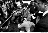 032 Plainclothes police beat peace demonstrators, Washington Square Park, NYC, 1968
