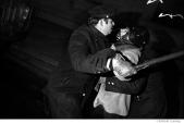 049 Police brutalize the helmet wearing demonstrator, peace demonstration, NYC, 1968