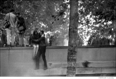 008 Running from tear gas, Pentagon Peace Demonstration, Washington, DC 1967