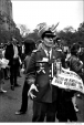 029 Peace demonstrator, Central Park West, NYC, 1968