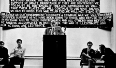 "001 Rev. William Sloan Coffen urges people to ""refuse the draft"", NYC, 1967"