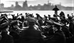 060 Running from police, peace demonstration, NYC, 1968