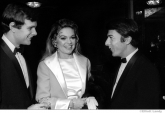 035 Keir Dullea, Dyan Cannon, Dustin Hoffman, awards ceremony, NYC, 1968