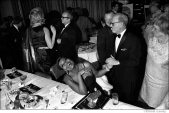 019 Pearl Bailey, singer, Mort Glankoff, publisher of Cue Magazine, International Film Awards ceremony, NYC, 1968
