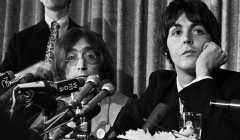 127 John Lennon, Paul McCartney, press conference announcing formation of Apple Records, NYC, 1968