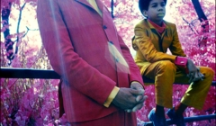 150 Ornette Coleman & son, Aero. Infrared color film. Central Park, NYC, 1969