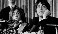564 John Lennon, Paul McCartney, press conference announcing formation of Apple Records, NYC, 1968