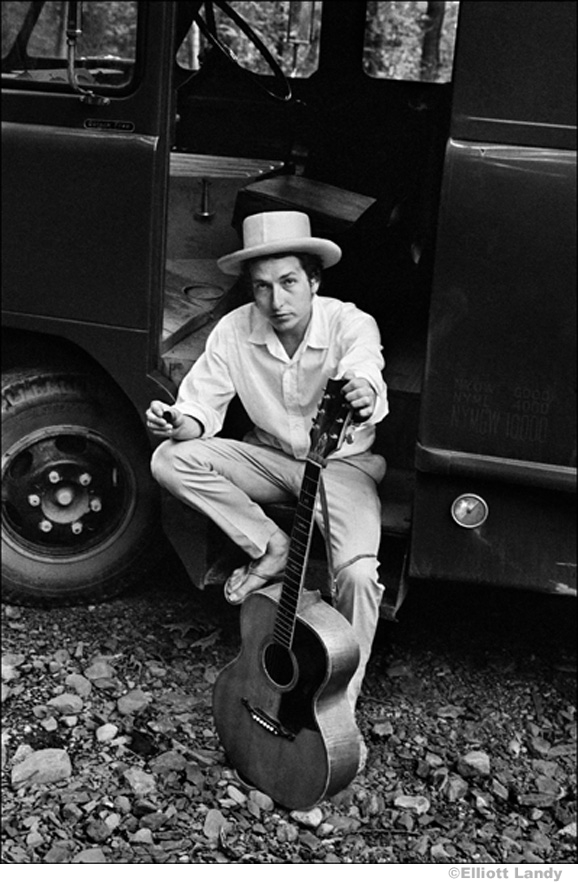 310 Bob Dylan, on his equipment truck outside his Byrdcliffe home, Woodstock, NY, 1968
