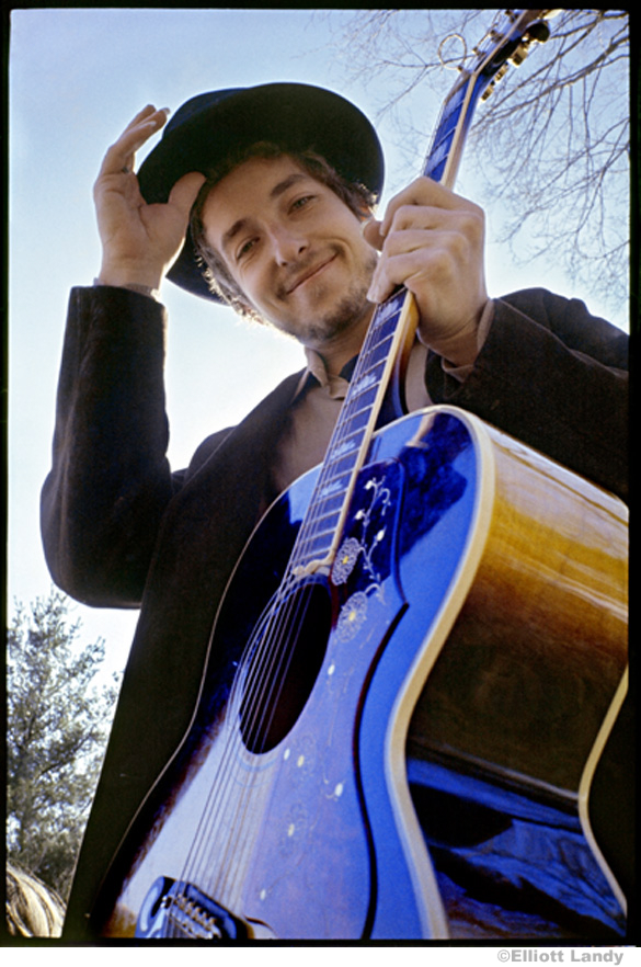 335 Bob Dylan, at his Byrdcliffe home, Nashville Skyline album cover, Woodstock, NY, 1969