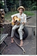 312 Bob Dylan, outside his Byrdcliffe home, Saturday Evening Post session, Woodstock, NY, 1968