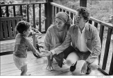316 Bob Dylan & Sara Dylan with son Jesse Dylan, Byrdcliffe home, Woodstock, NY, 1968