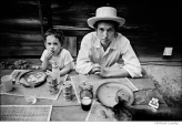 317 Bob Dylan with son Jesse Dylan, Byrdcliffe home, Woodstock, NY, 1968