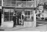 329 Bob Dylan with friends, Woodstock town square, Woodstock, NY, 1969