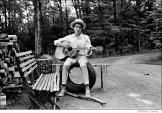 531 Bob Dylan, outside his Byrdcliffe home, Saturday Evening Post session, Woodstock, NY, 1968