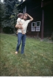 544 Bob Dylan, with his daughter Anna Dylan at Ohayo Mountain Rd. home, Woodstock, NY, 1969