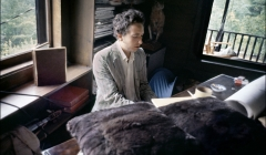 325 Bob Dylan in his living room, Byrdcliffe home, Woodstock, NY, 1968