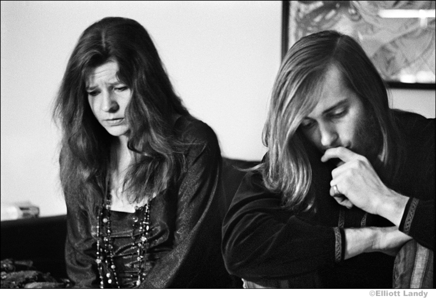 181 Janis Joplin and Sam Andrew (Big Brother and The Holding Comapny) in Albert Grossman's office, NYC, 1968