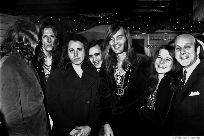 187 Janis Joplin, Albert Grossman, Big Brother & The Holding Company, with Clive Davis, President Columbia Records, 1968