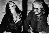 185 Janis Joplin and her manager, Albert Grossman, press party for signing with Columbia Records, NYC, 1968