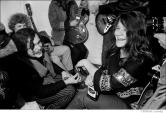 182 Ed Sanders & Janis Joplin, backstage, Andersen Theater, NYC, 1968
