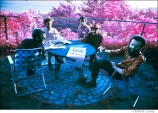 258-The-Band-Richard-Garth's-house-above-the-Ashokan-resevoir-infrared-film-Woodstock-1969