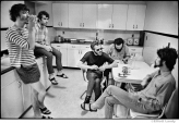 "233 The Band in the kitchen of ""Big Pink"", Easter Sunday, West Saugerties, NY, 1968"