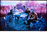 256 The Band, Richard & Garth's house above the Ashokan resevoir, infrared film, Woodstock, 1969
