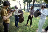 259 The Band, Richard & Garth's house above the Ashokan resevoir, Woodstock, 1969