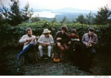 264 The Band, outside Richard & Garth's house above the Ashokan reservoir, Woodstock, 1969