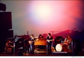 276 The Band at the Fillmore East with the Joshua Light Show behind them, NYC, 1969