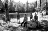 295 The Band with new members, taken for Jericho album, at Opus 40, Saugerties, NY, 1993