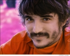 557 The Band, Rick Danko, Music From Big Pink session, infrared color film, Woodstock, NY, 1968