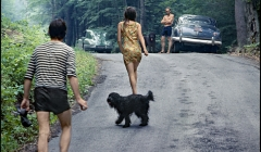 240 The Band, Goin' to the swimmin'hole with Rick Danko, Band members & friends, Woodstock, NY, 1968