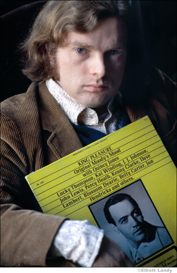 135 Van Morrison, Woodstock, NY, 1969 holding 'King Pleasure' album
