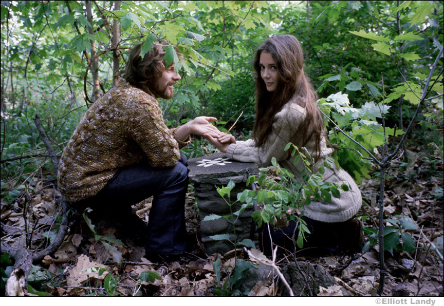 141 Van Morrison and his wife Janet Morrison, outside their home, Woodstock, NY, 1969