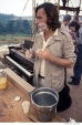 414 John Morris, announcer and stage manager, second day, Woodstock Festival 1969, NY