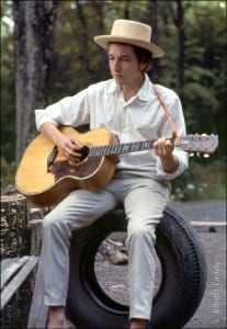 Bob Dylan, outside his Byrdcliffe home, Saturday Evening Post session, Woodstock, NY, 1968.