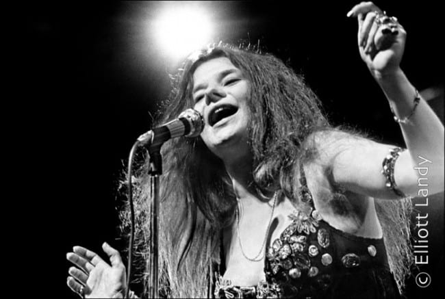 Janis Joplin, Big Brother and The Holding Company.Newport Folk Festival, Newport, Rhode Island, 1968. Photo By ©Elliott Landy, LandyVision Inc.