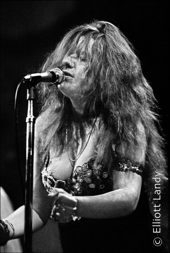 Janis Joplin, Big Brother and The Holding Company. Fillmore East, opening night of the Fillmore, NYC, 1968. Photo By ©Elliott Landy, LandyVision Inc.