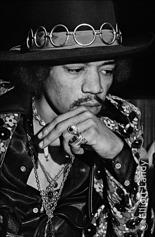 Jimi Hendrix, Press Conference, on top of Pan Am building, NYC, 1968. Photo By ©Elliott Landy, LandyVision Inc.