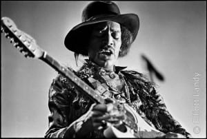 Jimi Hendrix, Fillmore East, NYC, 1968. Playing Gibson, Les Paul. Photo By ©Elliott Landy, LandyVision Inc.