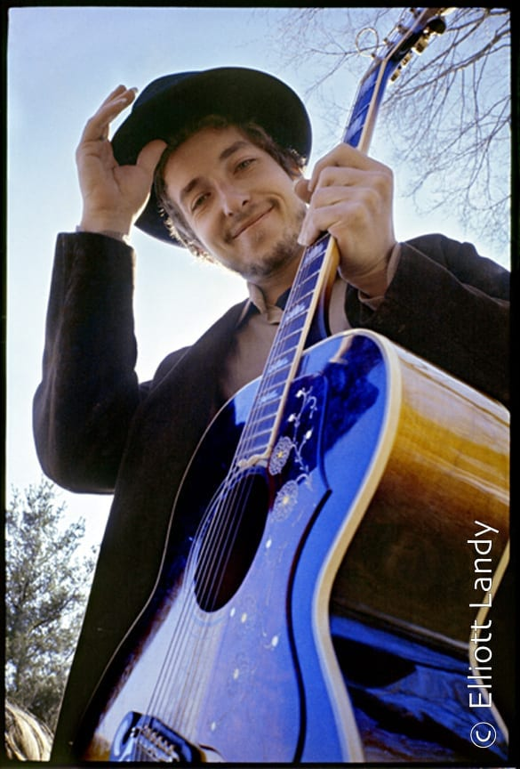 Bob Dylan, at his Byrdcliffe home, Nashville Skyline album cover, Woodstock, NY, 1969. Photo By ©Elliott Landy, LandyVision Inc.