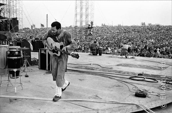 Richie Havens, Woodstock (3 Days of Peace & Music), Bethel, NY, 1969. Photo By ©Elliott Landy, LandyVision Inc.
