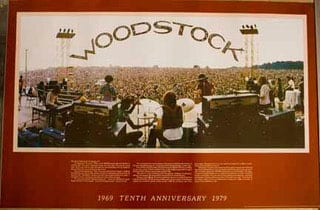 10th anniversary woodstock poster