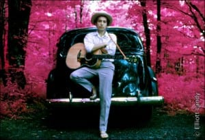 Bob Dylan Prints - Outside his Byrdcliffe home, infrared color film, Woodstock, NY, 1968