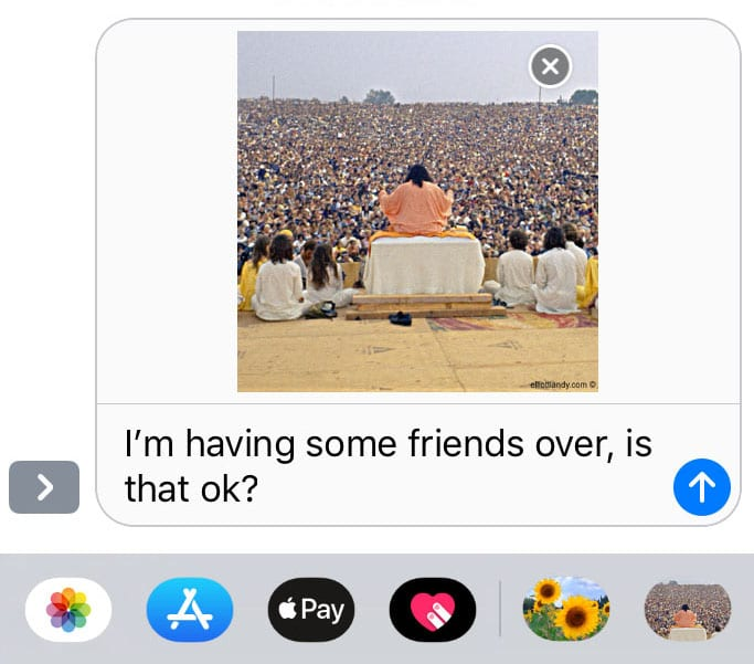 69 Woodstock Festival IOS Stickers